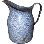 Primitive Granite Ware Graniteware Pitcher