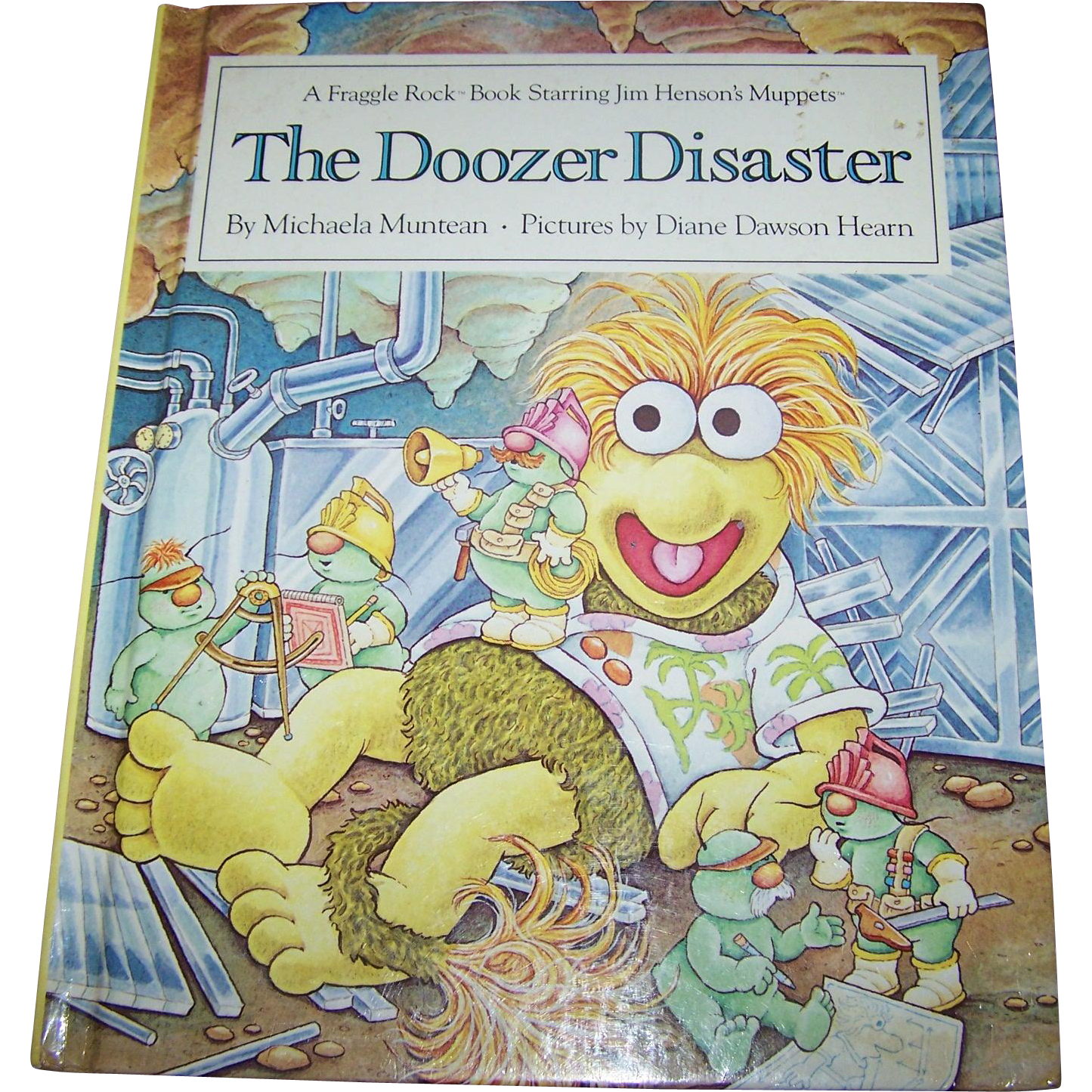 "Collectible Vintage Children's Book "" The Doozer Disaster "" A Fraggle Rock Book Staring The Muppets"