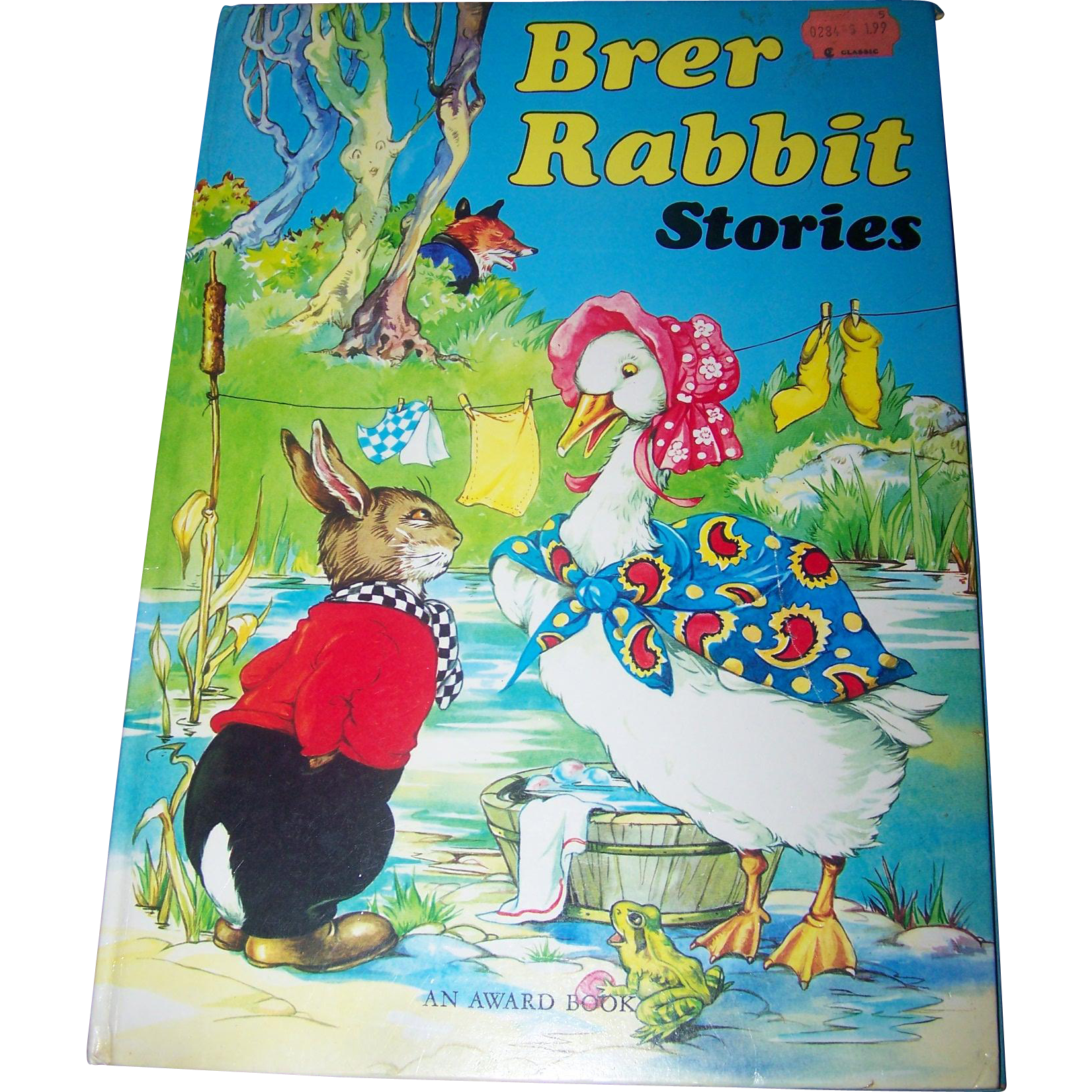 Over Size Children's Book Brer Rabbit Stories An Award Book