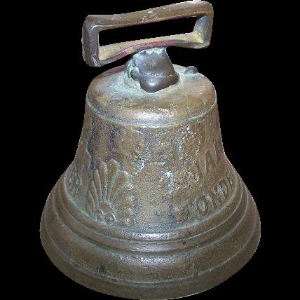 Vintage  Brass Swiss Livestock Bell SAIGNELEGILER 1878 FONDEUR Chaiantal