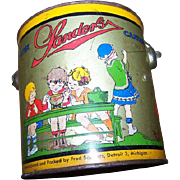 Rare Collectible Vintage Advertising SANDERS Candy Tin Pail