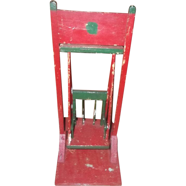 A hand made vintage hand painted wood wooden swing folk for L furniture warehouse victoria bc