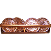 A Charming Little  Copper  Shelf with Jello Molds Fruit Motif Home Decor Accent