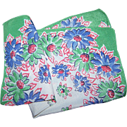 Pretty Vintage  Delicate Crepe Floral Handkerchief Hanky Hankie