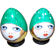 Oh So Wonderful Vintage Flapper Girl Salt and Pepper Shakers Made In Japan - Red Tag Sale Item