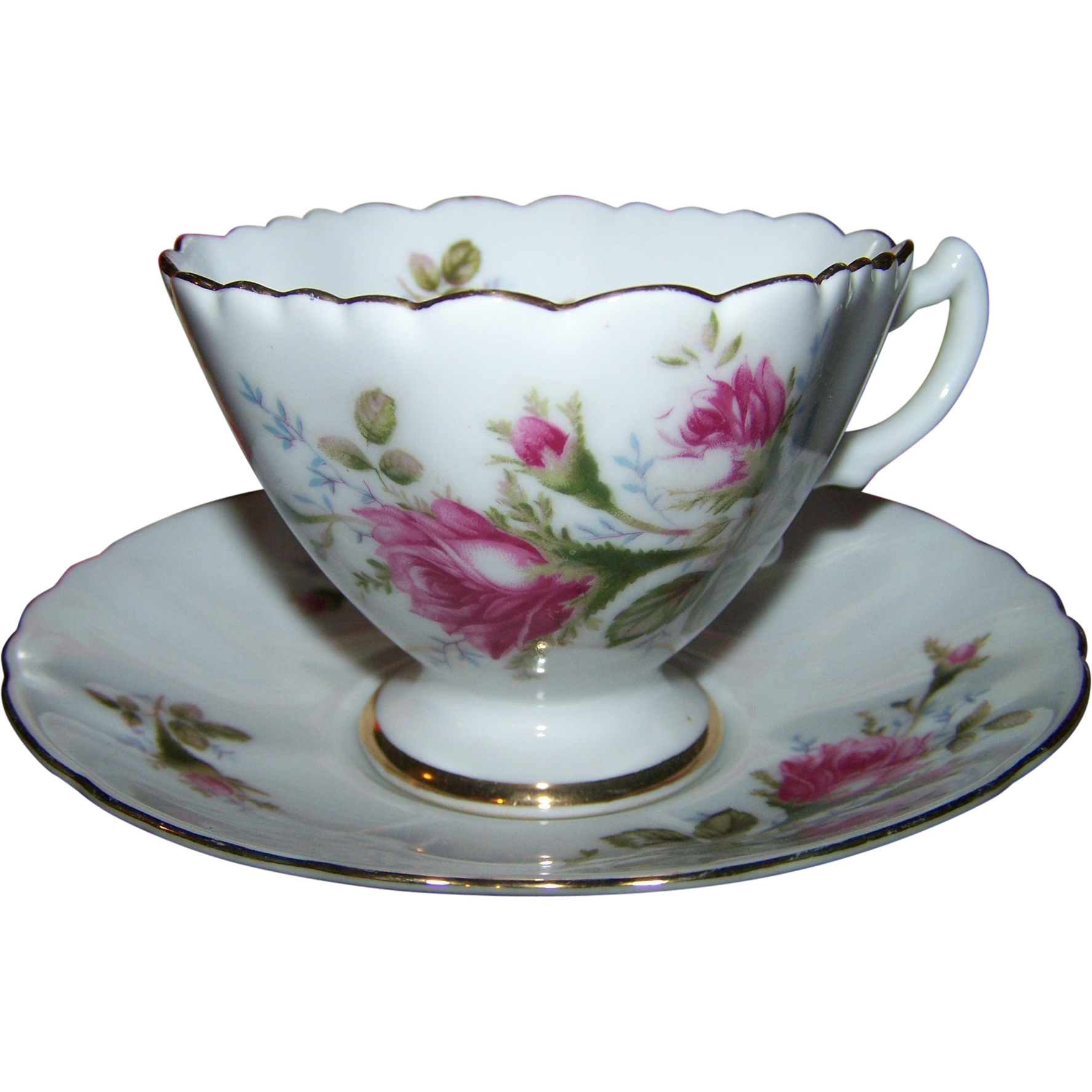 Unusual shaped tea cup saucer set westville fine china for L furniture warehouse victoria bc
