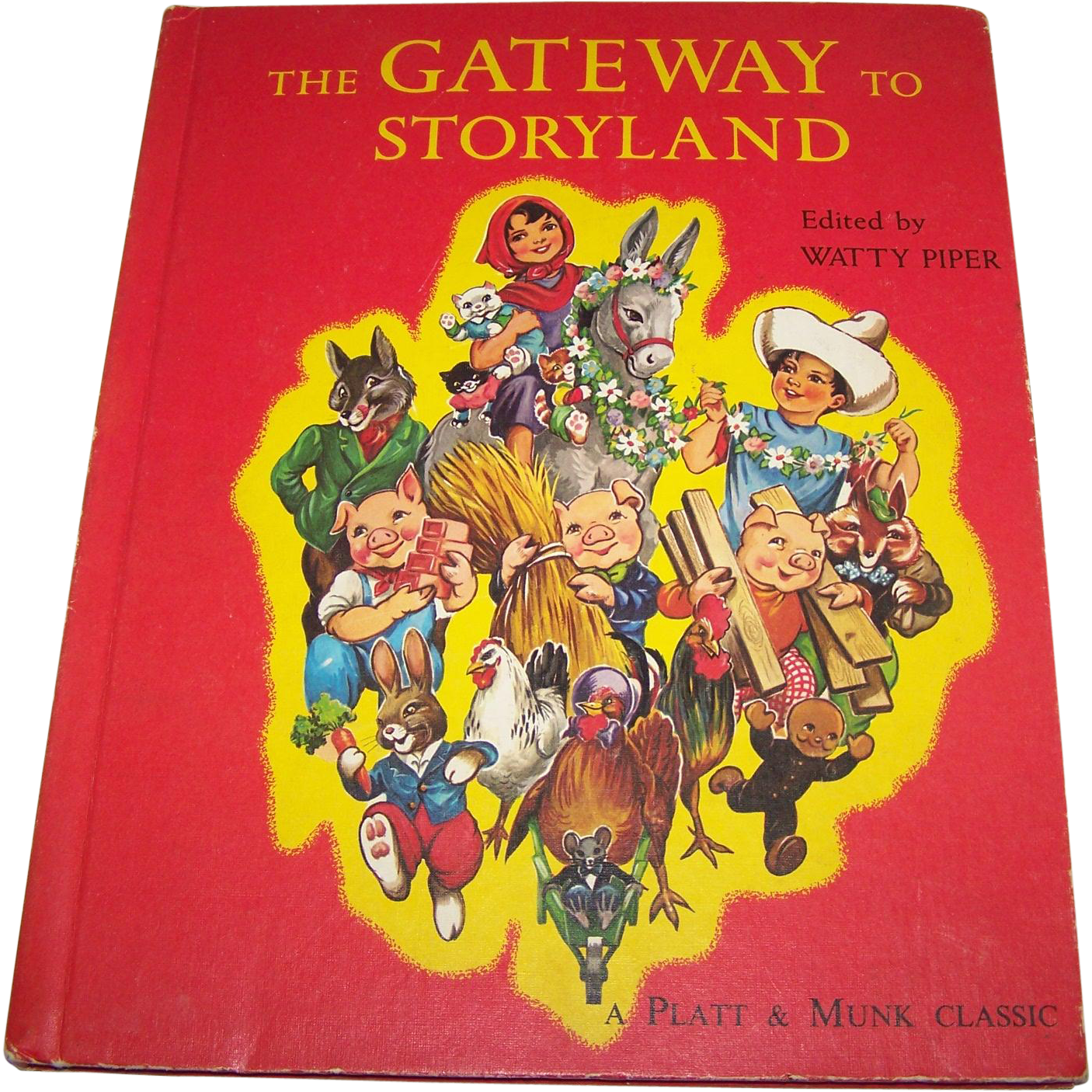 "Beautifully Illustrated Children's Book "" The Gateway to STORYLAND Platt Munk Classic"