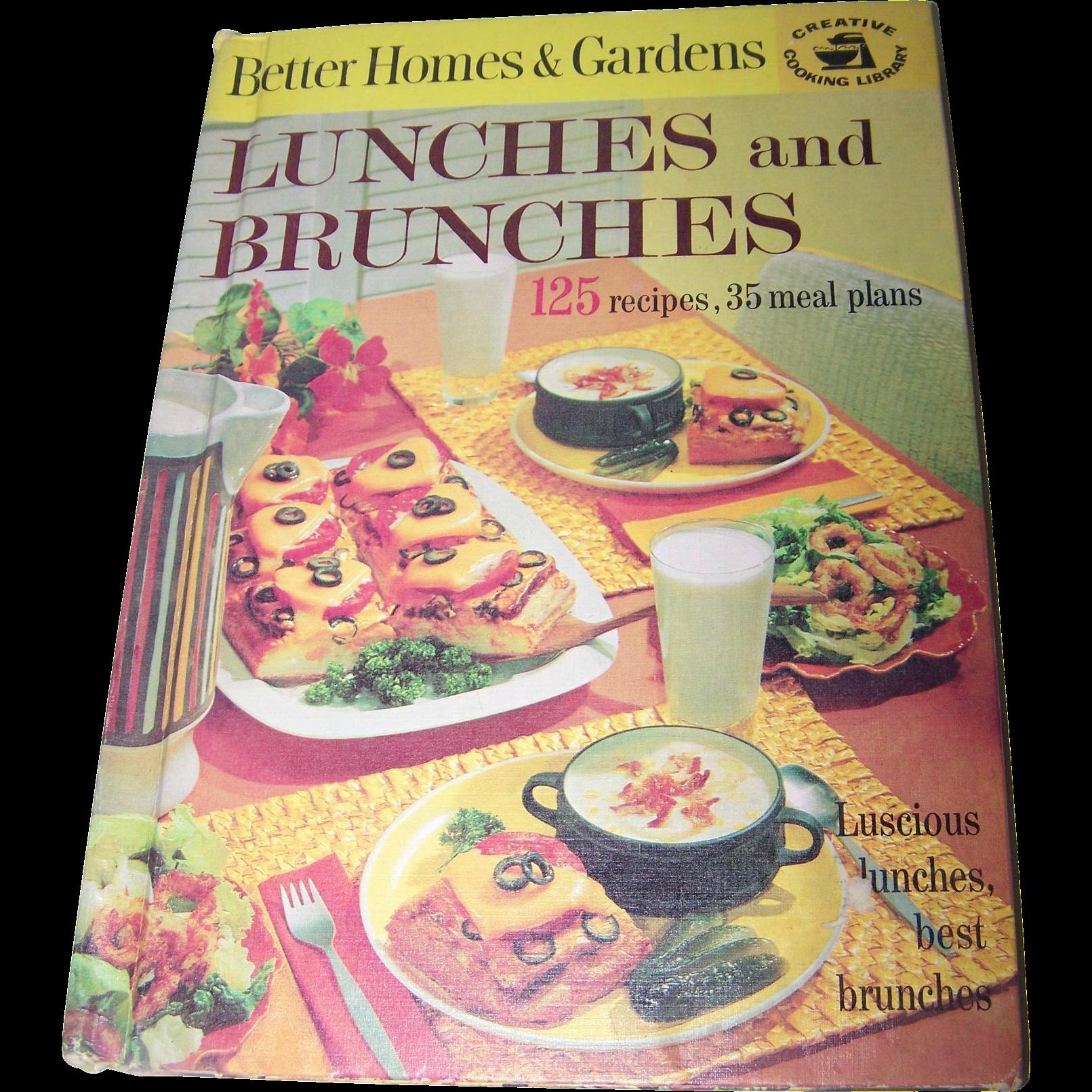 Vintage hard cover cookbook better homes gardens lunches - Vintage better homes and gardens cookbook ...