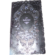 Vintage Sentimental Post Mortem  In Memoriam  Black Paper Booklet