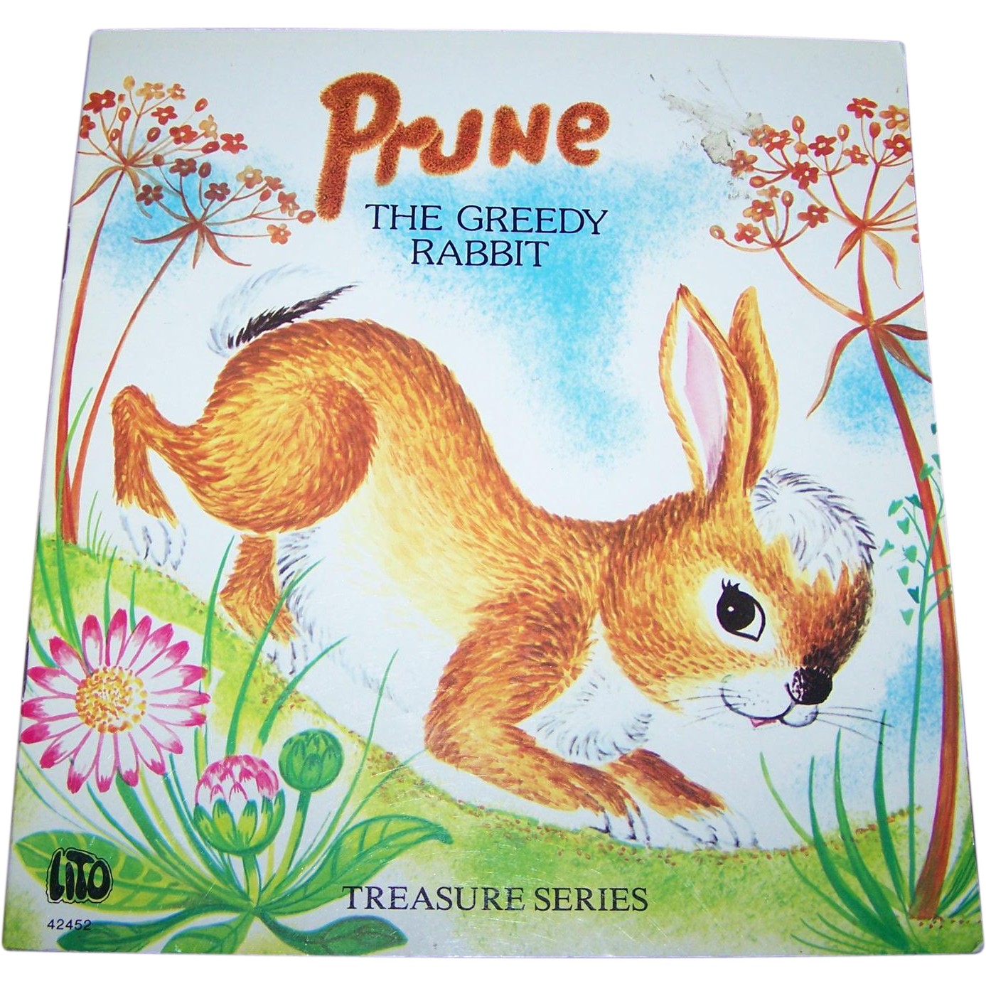 A Charming Soft Cover Children's Book PRUNE The Greedy Rabbit Treasures Series