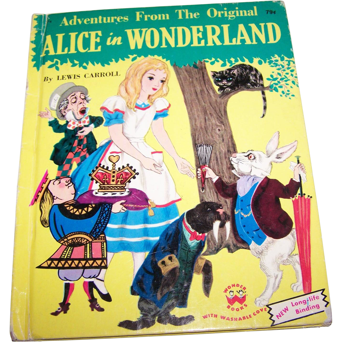 Adventures From The Original Alice in Wonderland Wonder Children's Book