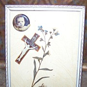 Framed Sentimental Memento Mori Remembrance   Display