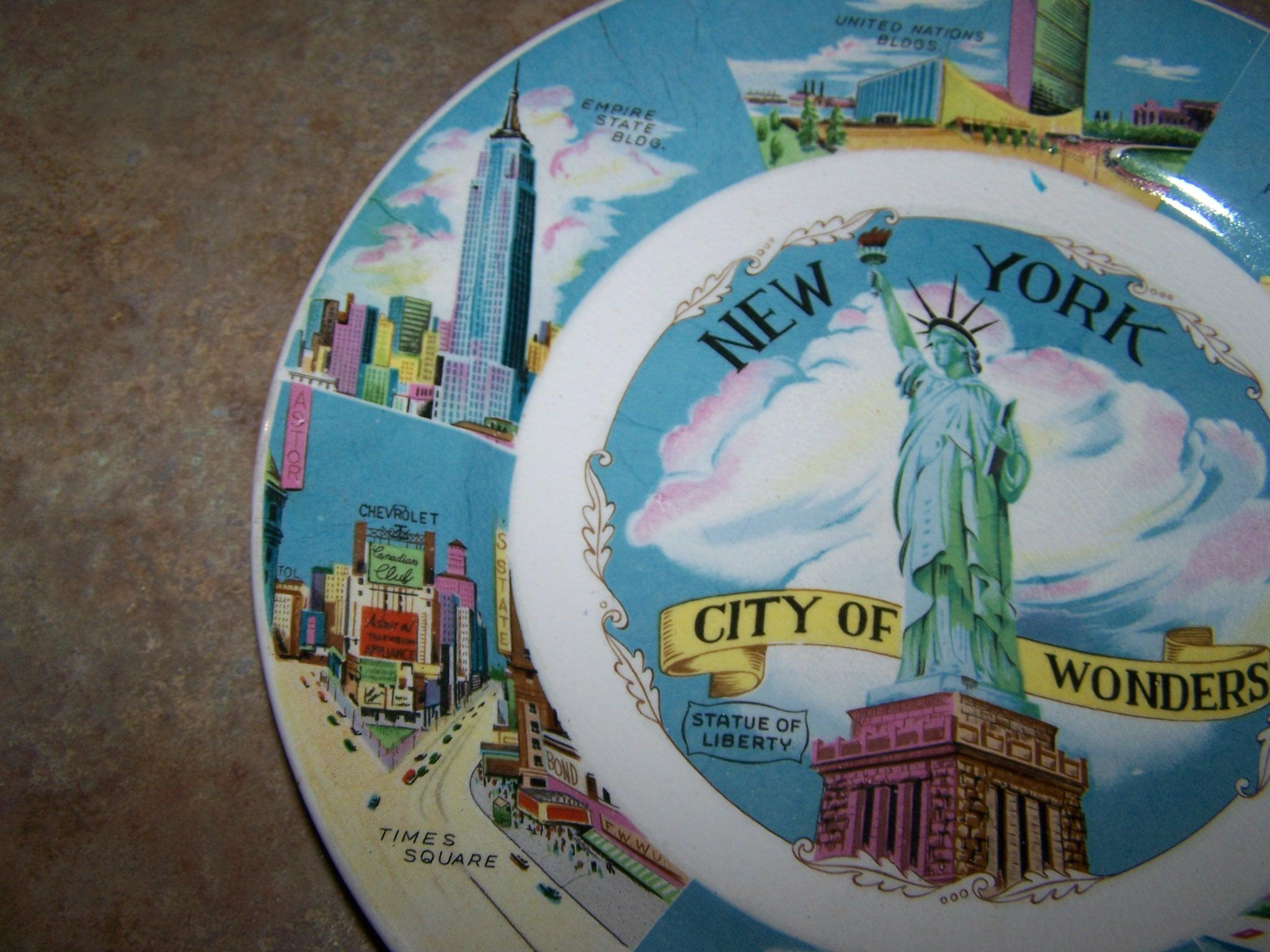 Statue Of Liberty Wall Sticker Collectible Vintage Souvenir Memento Plate Quot New York