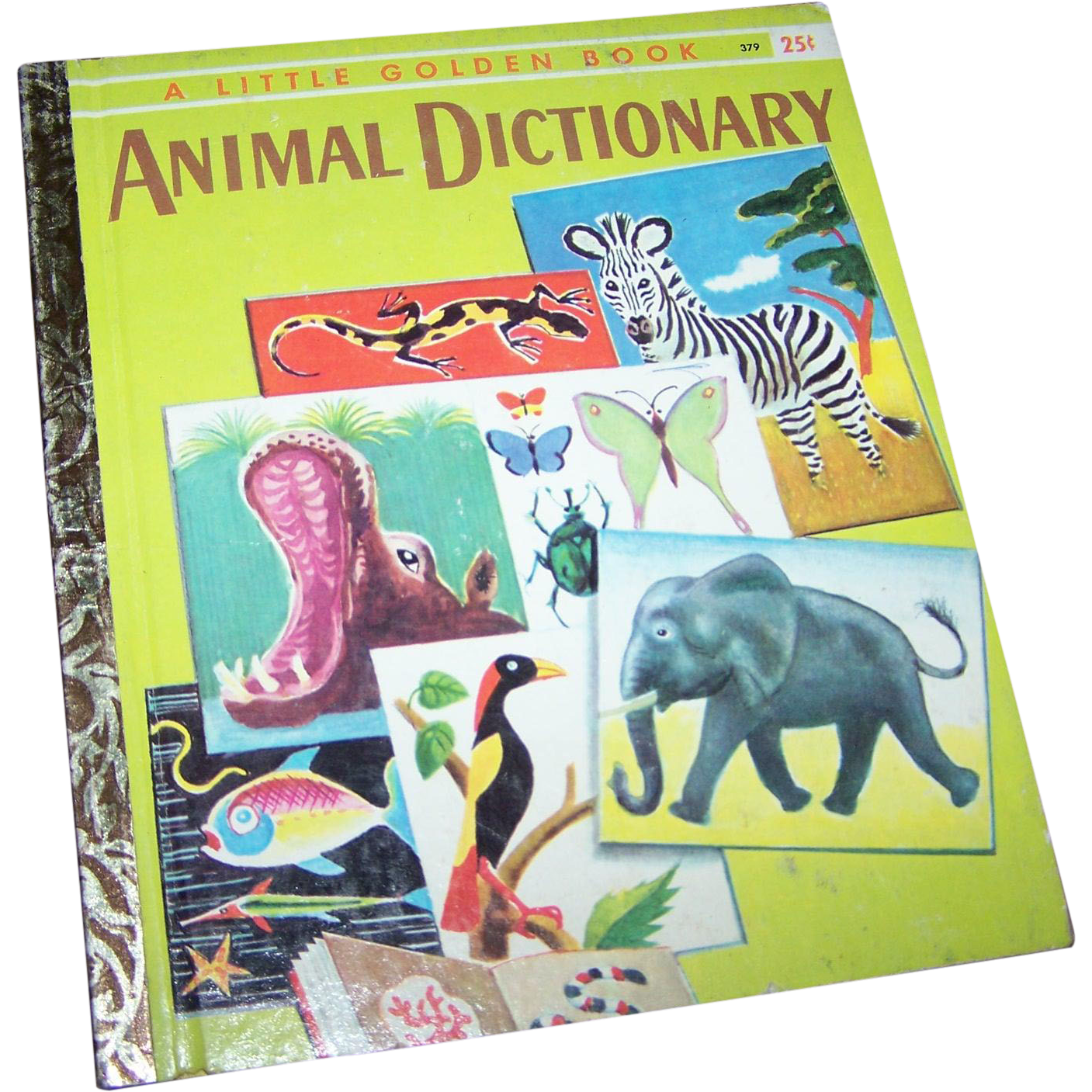 Vintage Children's Book Animal Dictionary Golden Press New York #379