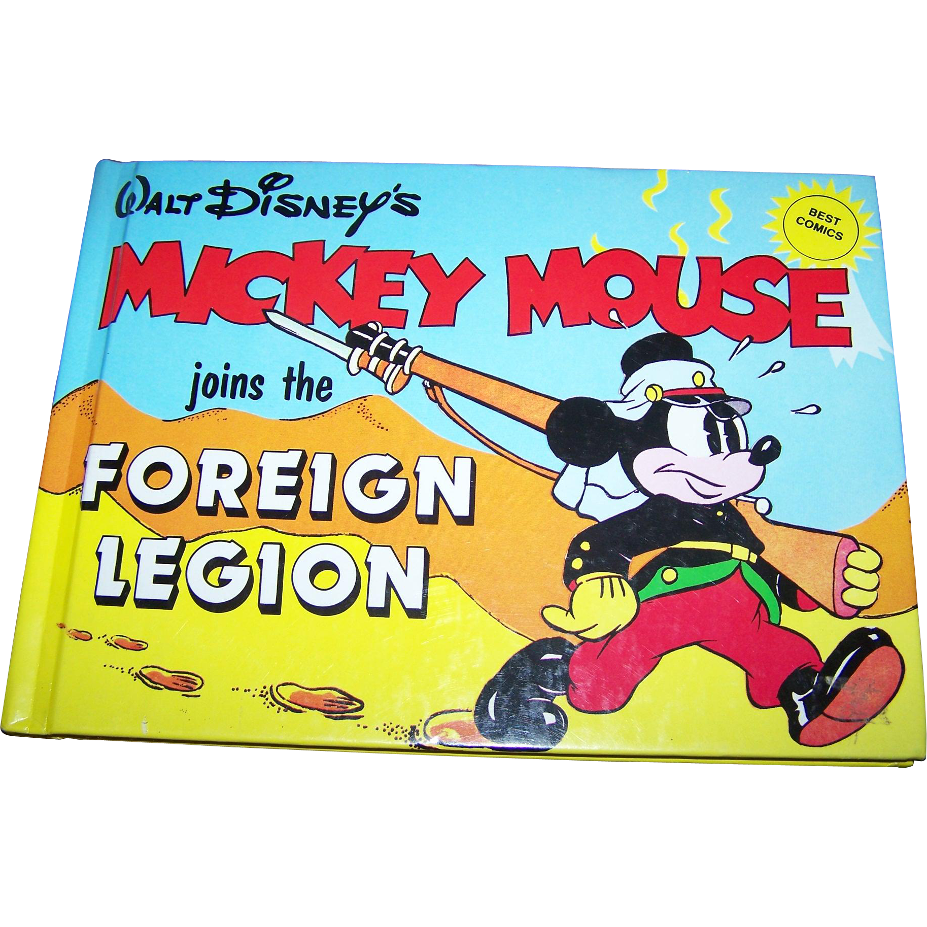Walt Disney's Mickey Mouse Joins the Foreign Legion Best Comic Hard Cover Book
