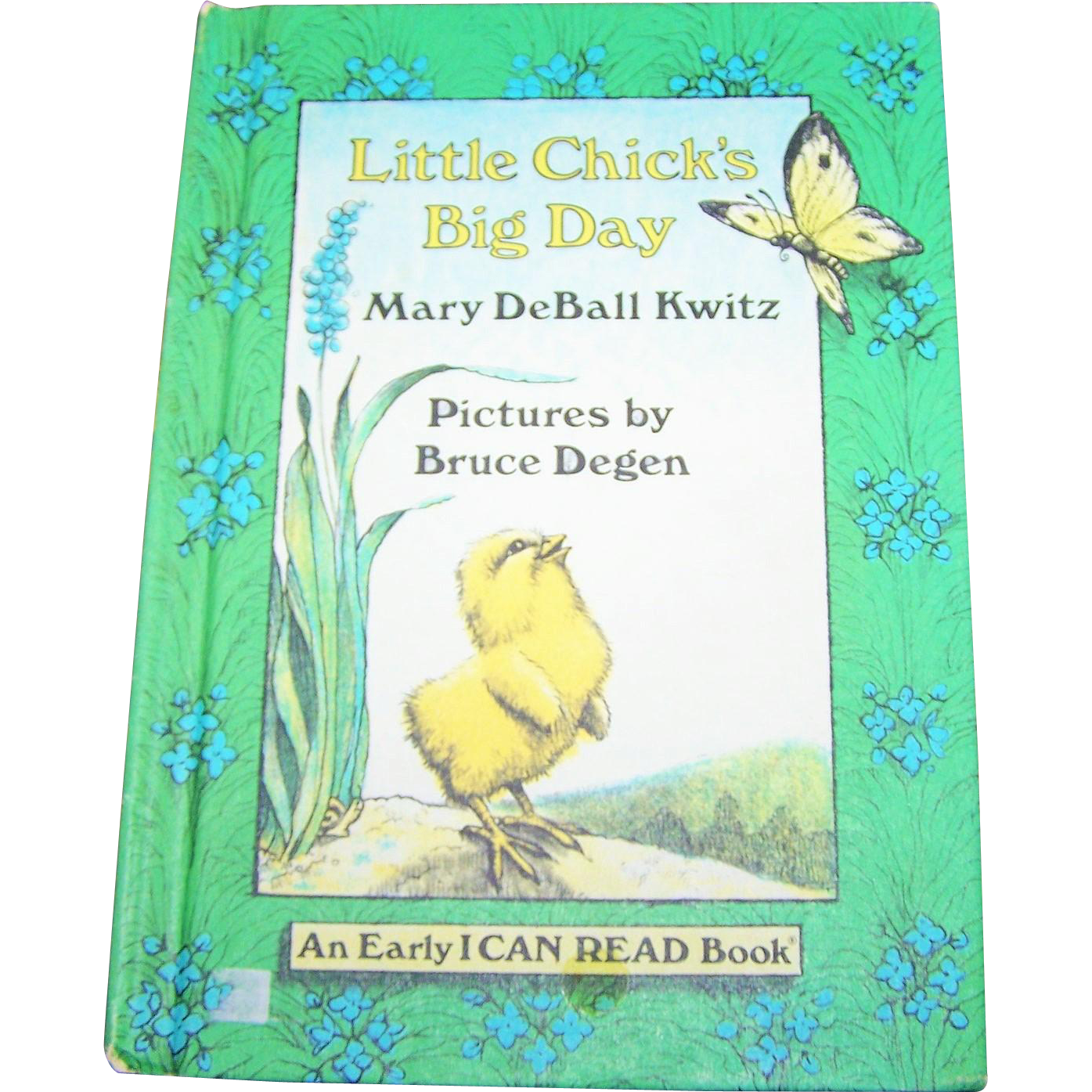 "Charming Hard Cover Children's Book "" Little Chick's Big Day "" By Mary DeBall Kwitz"
