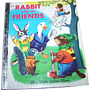 Children's Book Rabbit And His Friends  A Little Golden Book by Richard Scarry
