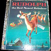 Children' s Book  Rudolph the Red-Nosed Reindeer a Little Golden Book 1971