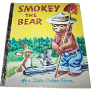 "Charming Vintage Children's Book "" Smokey The Bear ""  A Little Golden Book"