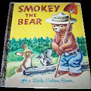 "Charming Vintage Children's Book "" Smokey The Bear ""  A Little Golden Book"