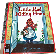 "Children's Book"" Little Red Riding Hood ""  A Little Golden Book C. 1971"