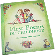 "Children's Book "" First Poems Of Childhood "" Illustrated by Tasha Tudor"