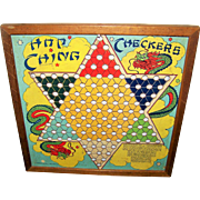 Collectible C. 1960's  Hop Ching Chinese Checkers Game Board ONLY J. Pressman & CO  New York