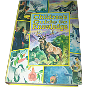 "Beautiful Jumbo Vintage Book "" Children's Guide to Knowledge ""  Illustrated"