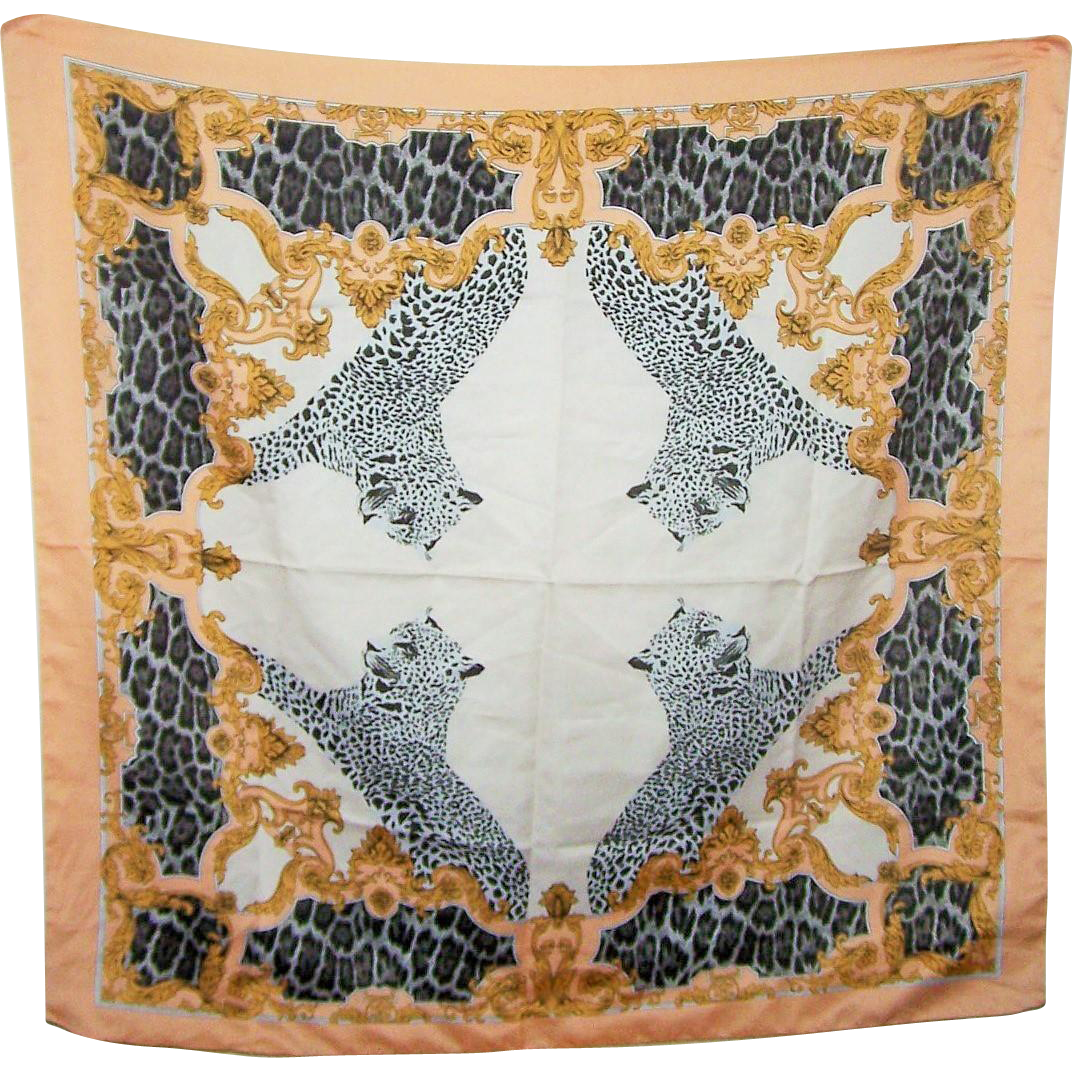 A Stunning Spotted Leopard  Wild Cat Ladies Fashion Accessory  Scarf  Wearable ART