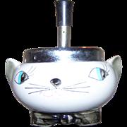 Mid Centnury Modern Novelty  Holt Howard Plunger Ashtray Cozy Kitten Meows