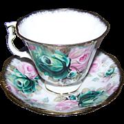 Royal Albert England  Bone China Tea Cup Saucer Set Summer Bounty Series JADE