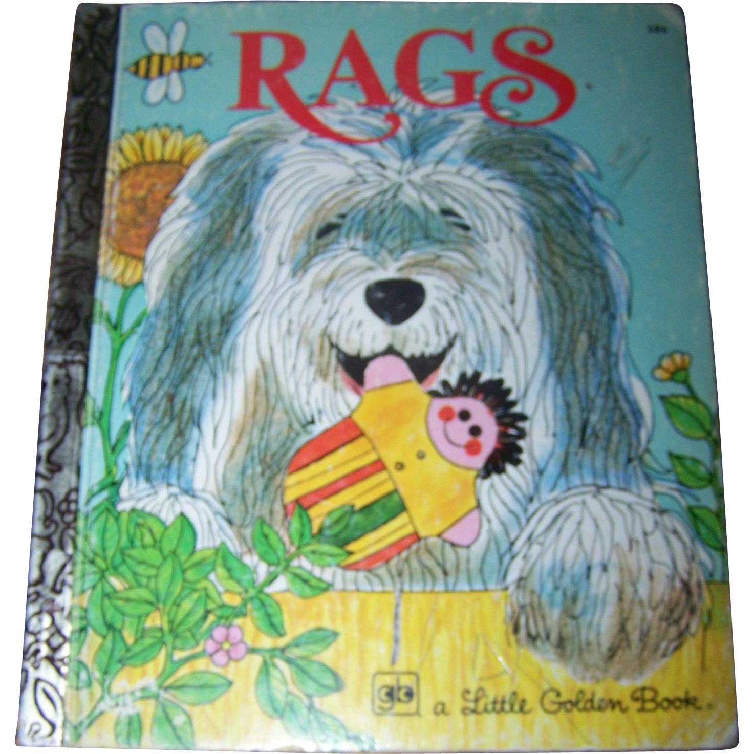 Children's Book RAGS A Little Golden Book By Patrica Scarry 1977
