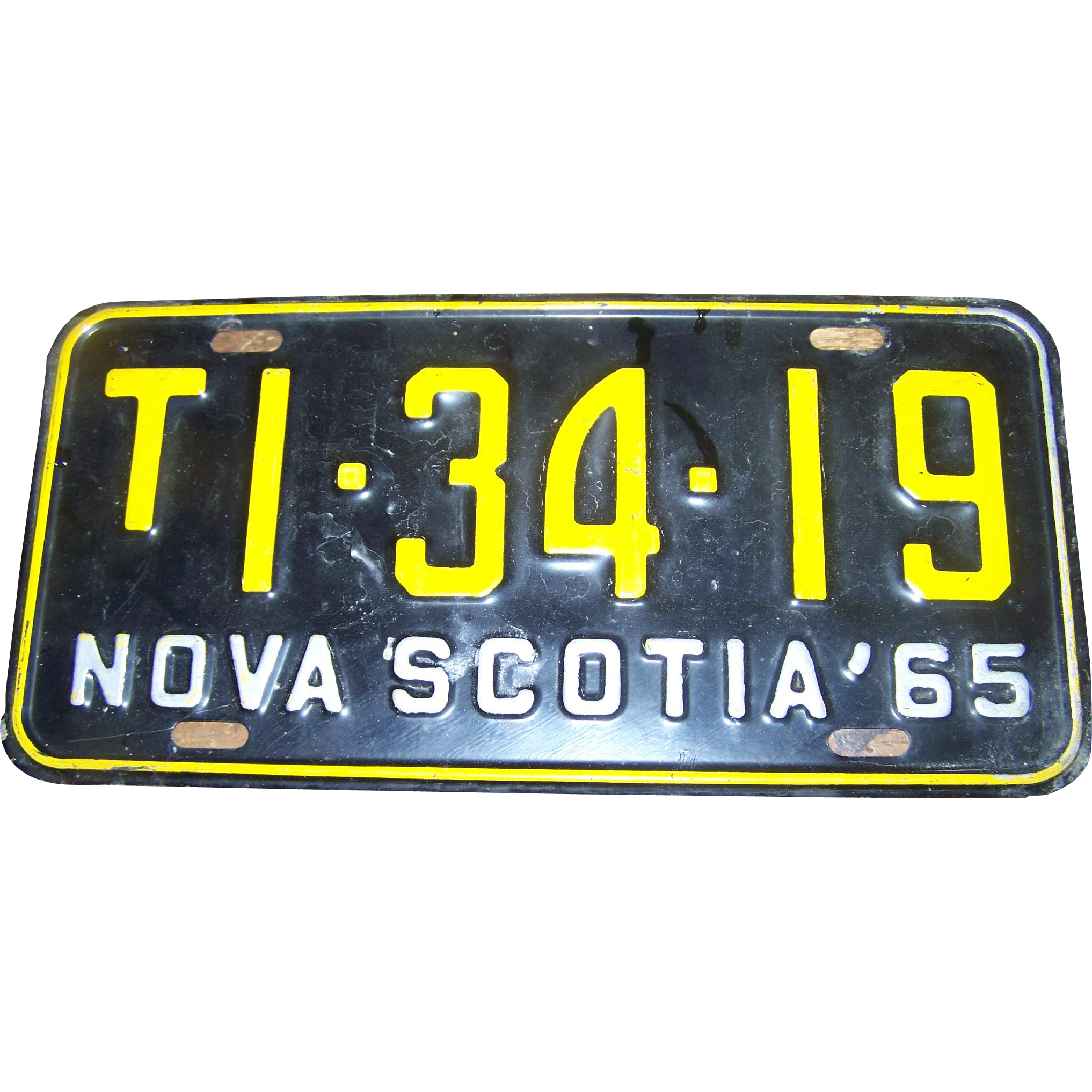 Vintage Nova Scotia License Plate 1965