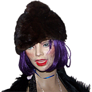 Lovely Vintage Stylish Ladies Fur Mink Hat Fashion Accessory