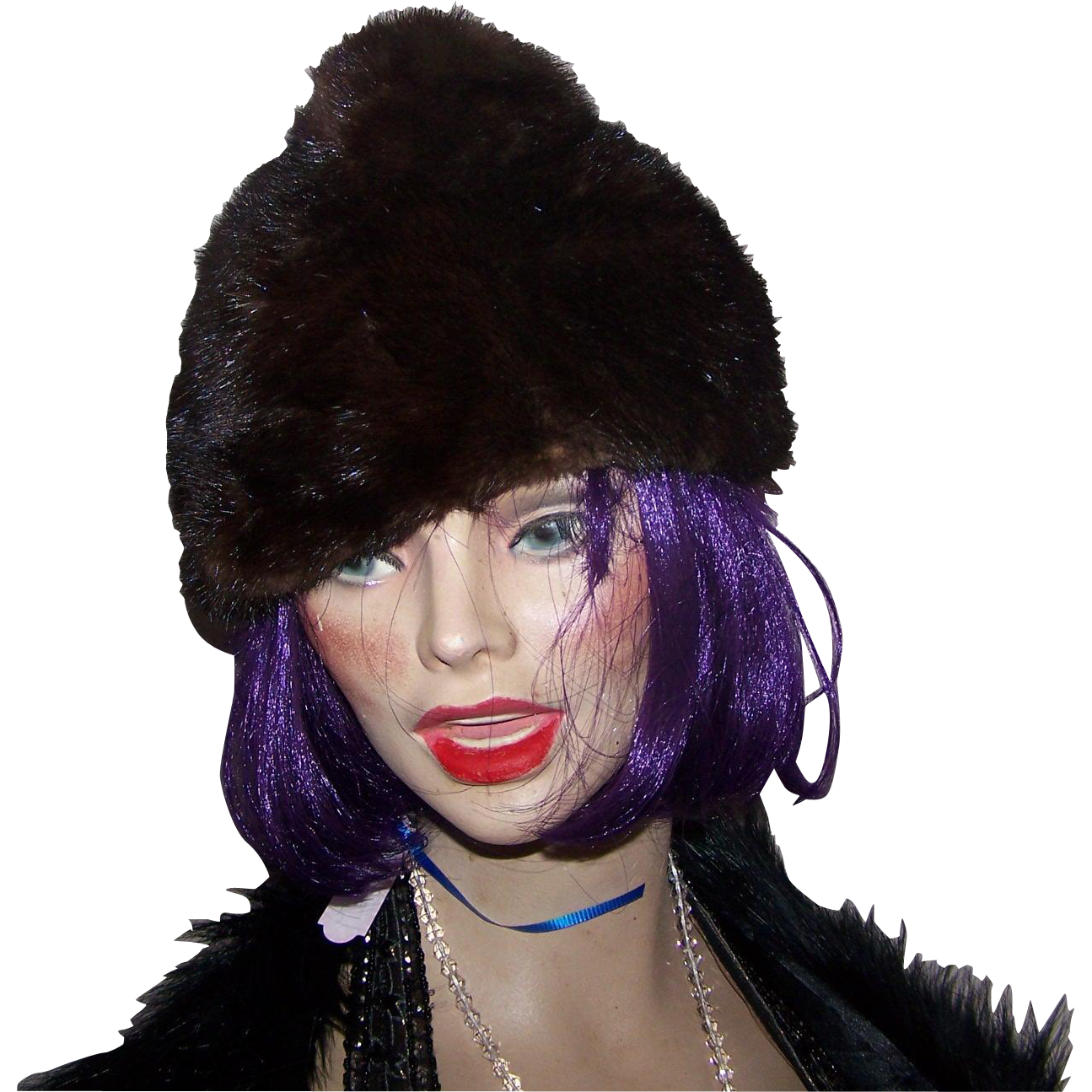 What A Lovely Vintage Stylish Ladies Fur Mink Hat Fashion Accessory