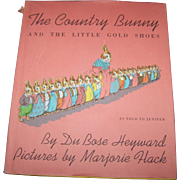 The Country Bunny and The Little Gold Shoes As Told To Jennifer Children's Book