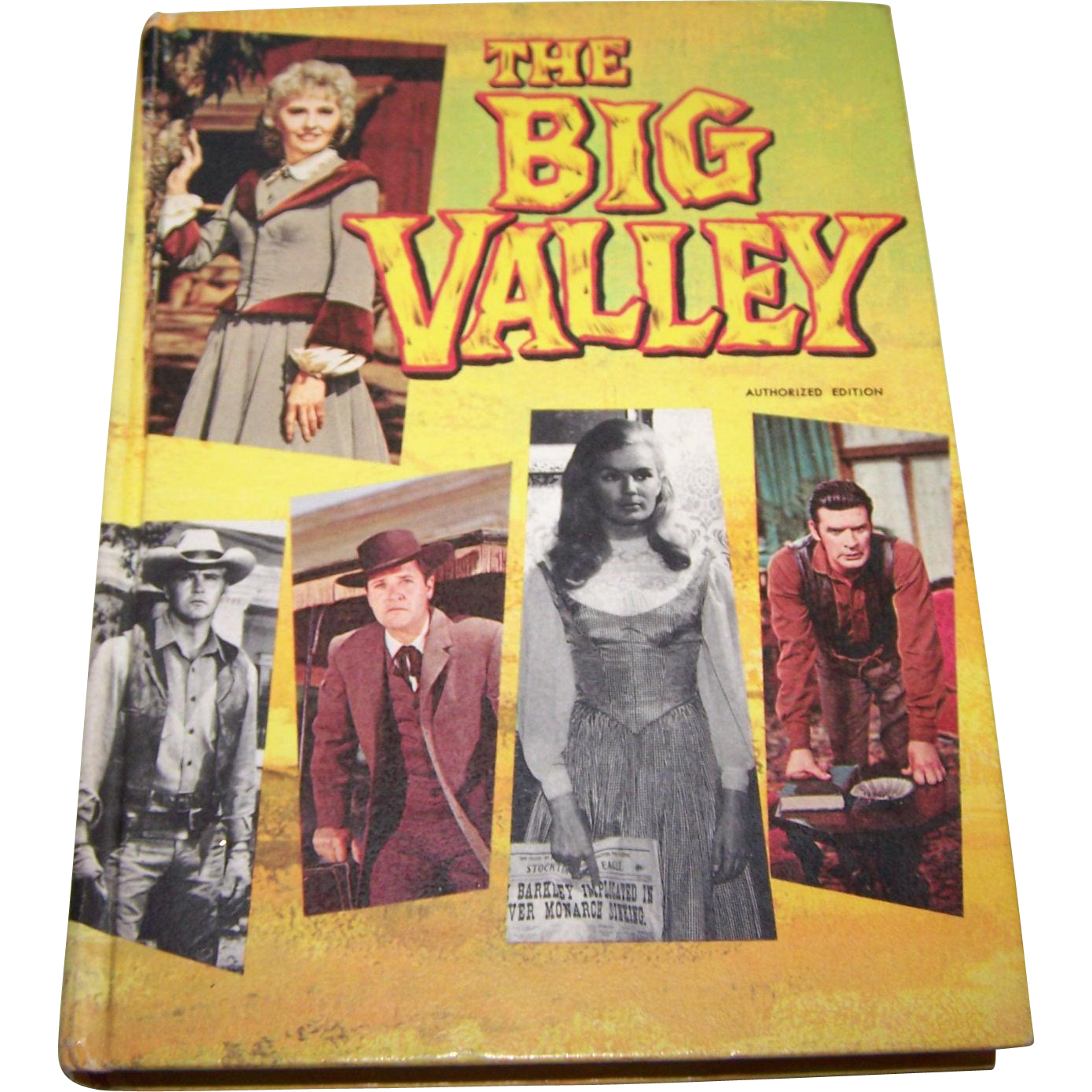 "Hard Cover Children's Book "" The Big Valley "" Authorized Edition"