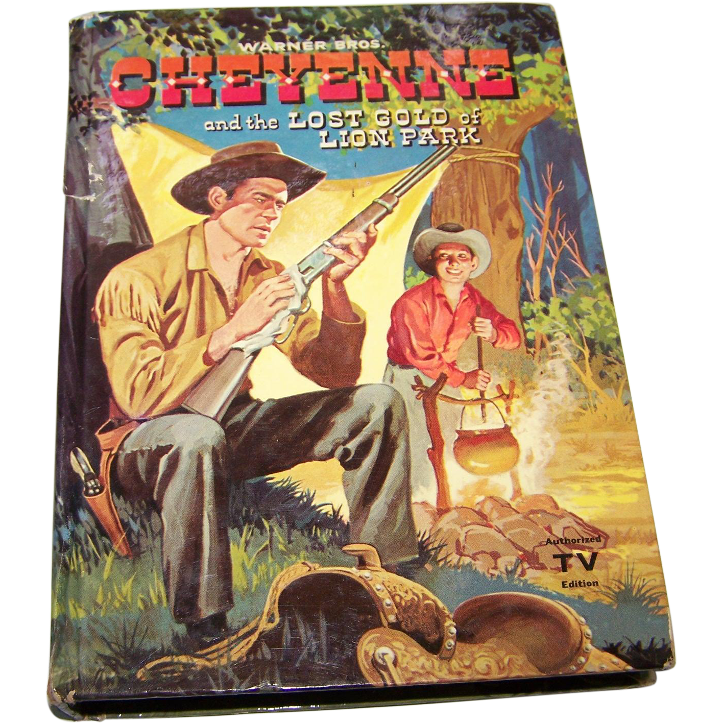 "Vintage Children's Hard Cover Book "" Cheyenne "" and the Lost Gold of Lion Park Authorized TV Edition"