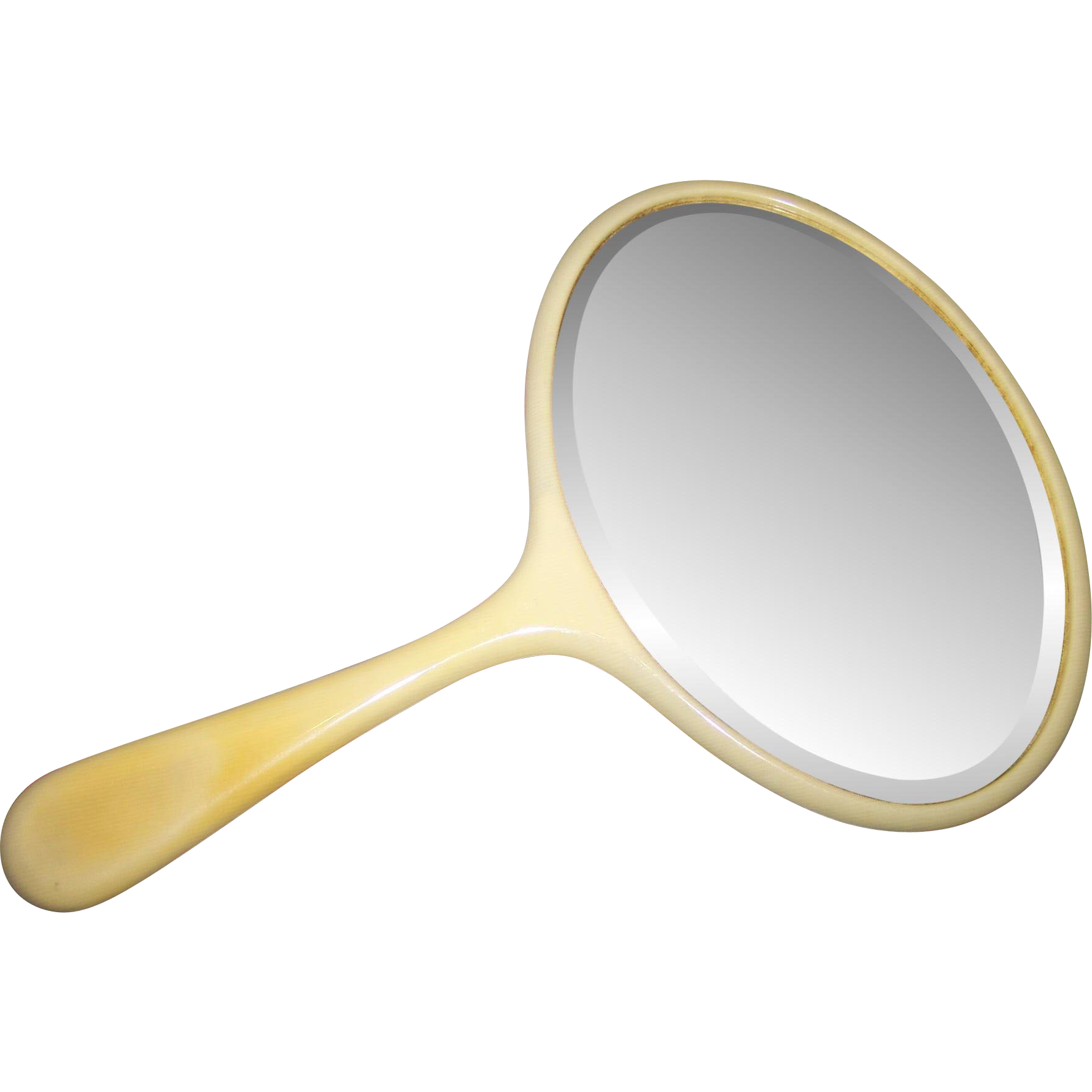 Lovely vintage celluloid beveled glass hand mirror from for L furniture warehouse victoria bc