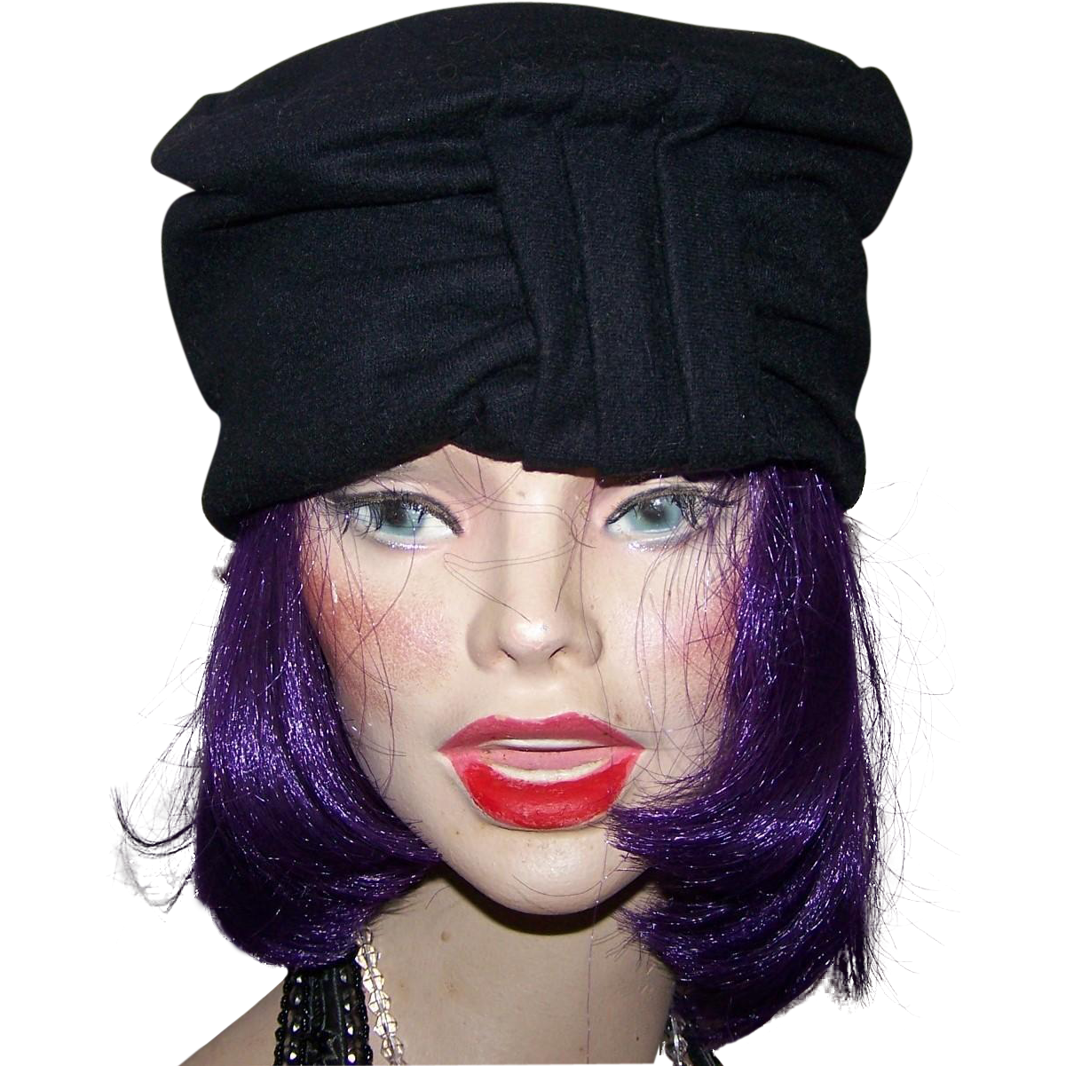 Vintage Ladies Fashion Stylish Felt Turban Millinery Fashion Hat By Sears