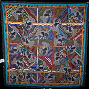 Vintage FRESCA Scarf Designer Signed BALARINJI  Koala Bears Pattern