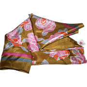 The Most Beautiful Delicate Silk Floral Pattern Scarf