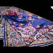 Stunning Vintage Ladies Fashion Silk Scarf Paisley Pattern