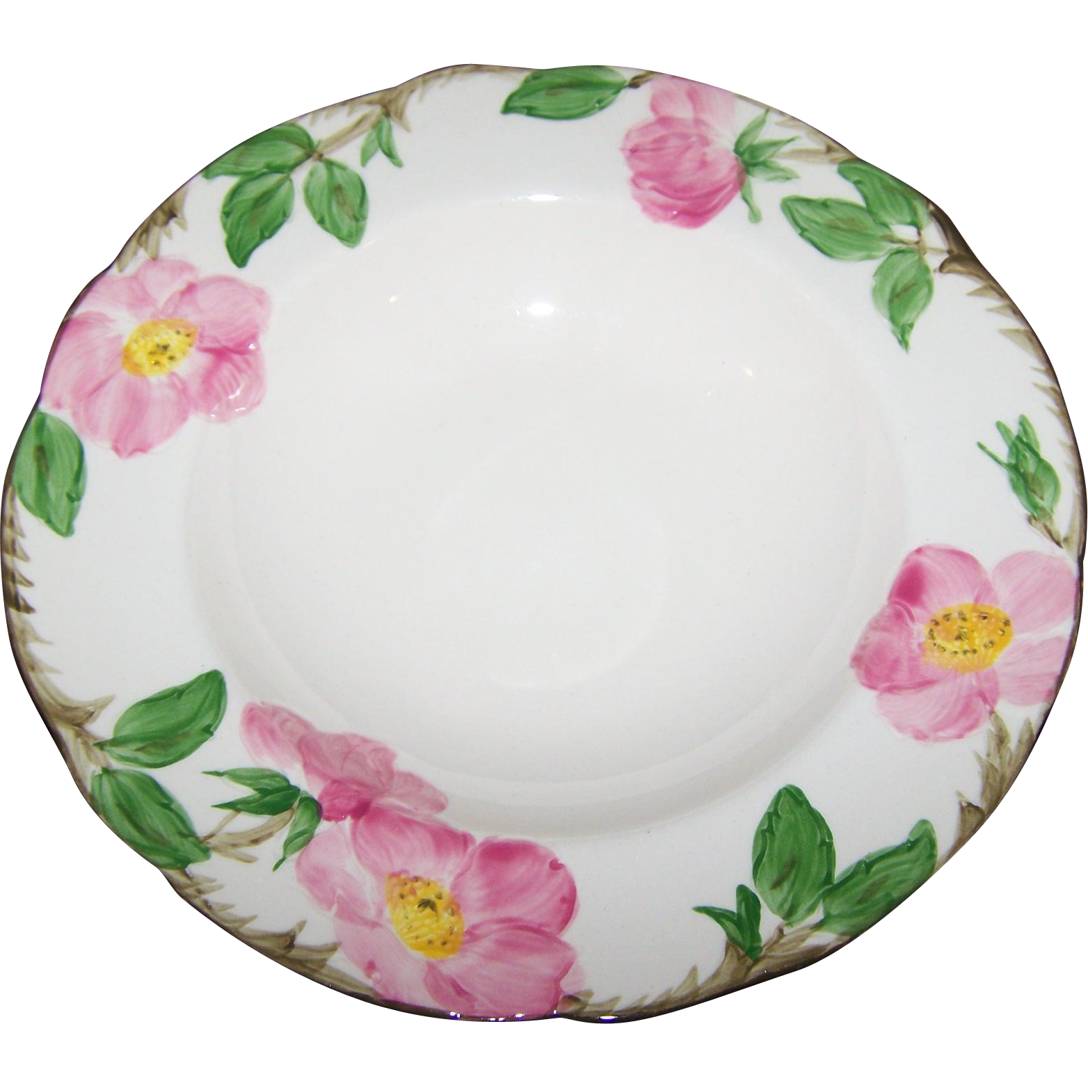 Vintage Franciscan Earthenware Pink Desert Rose Pattern Soup / Salad Bowl  8.5""