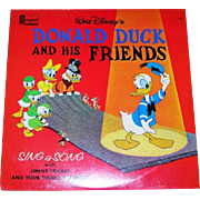 Collectible Walt Disney's Donald Duck and his Friends LP Vinyl  Children's Record