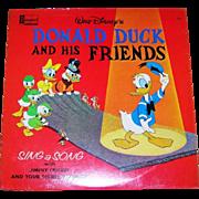 Collectible Walt Disney's Donald Duck and his Friends LP Vinyl  Children's Record