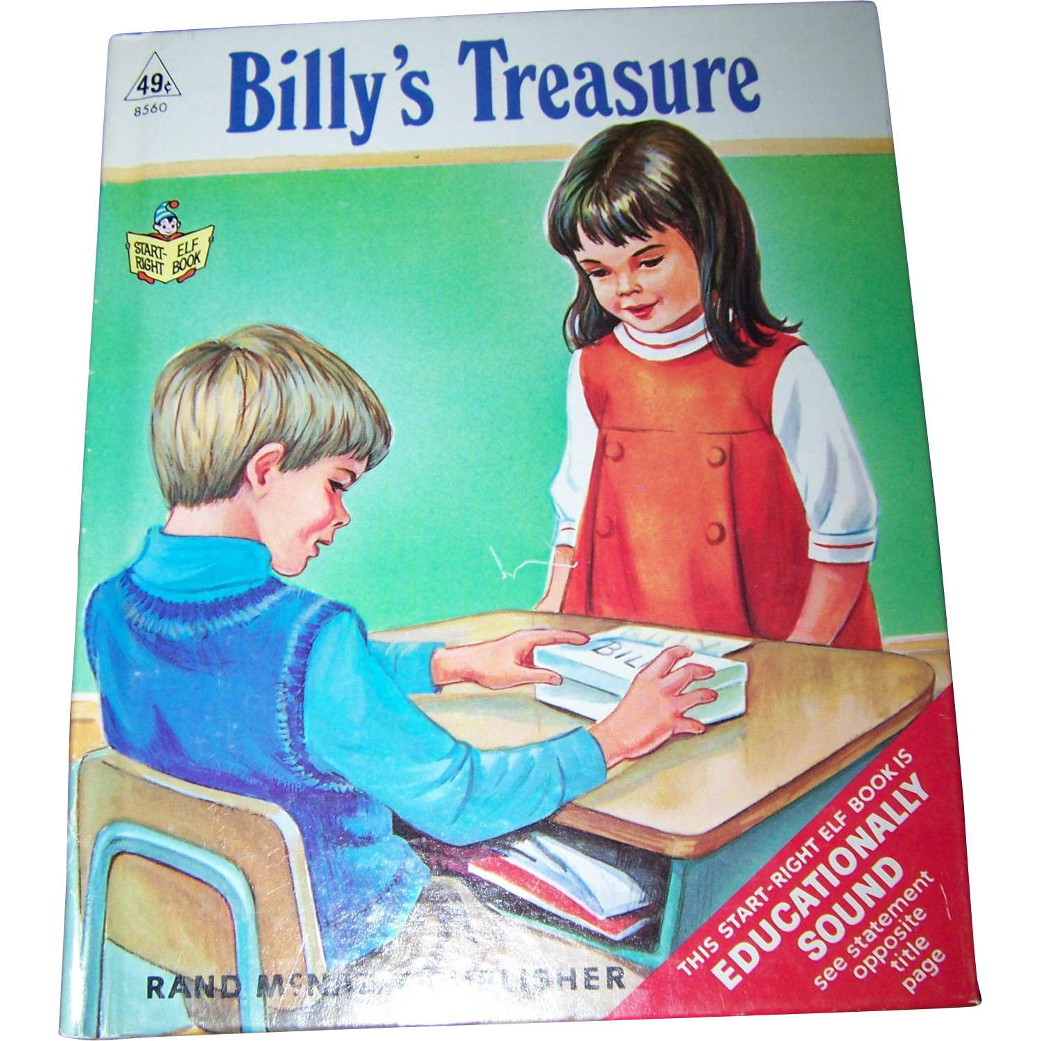 A Sweet Vintage Childrfen's Book Billy's Treasures  by Dorthea J. Snow  Start Right Elf Book