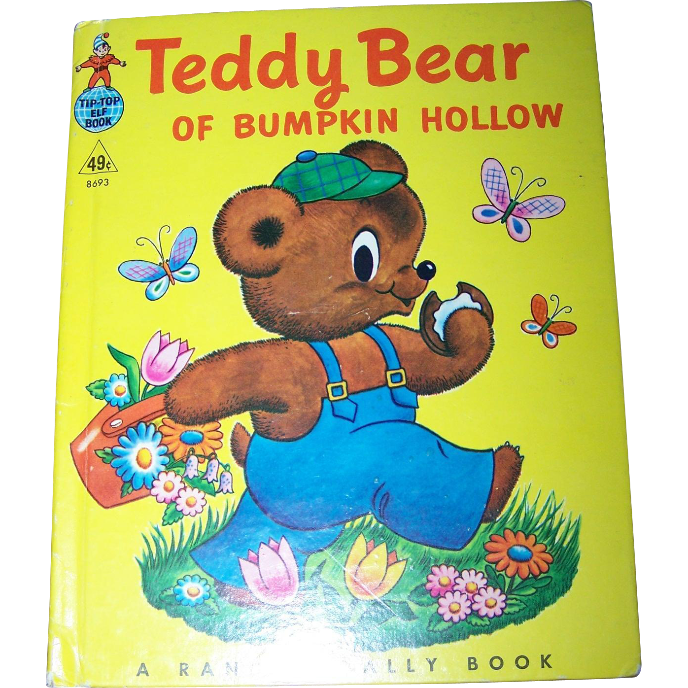 """ Teddy Bear if Bumpkin Hollow "" Rand McNally Tip Top Elf  Children's Book"
