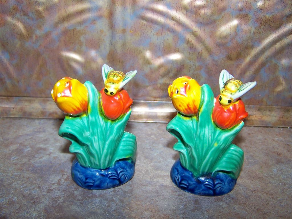 Majolica style colorful ceramic salt pepper shakers mij Colorful salt and pepper shakers