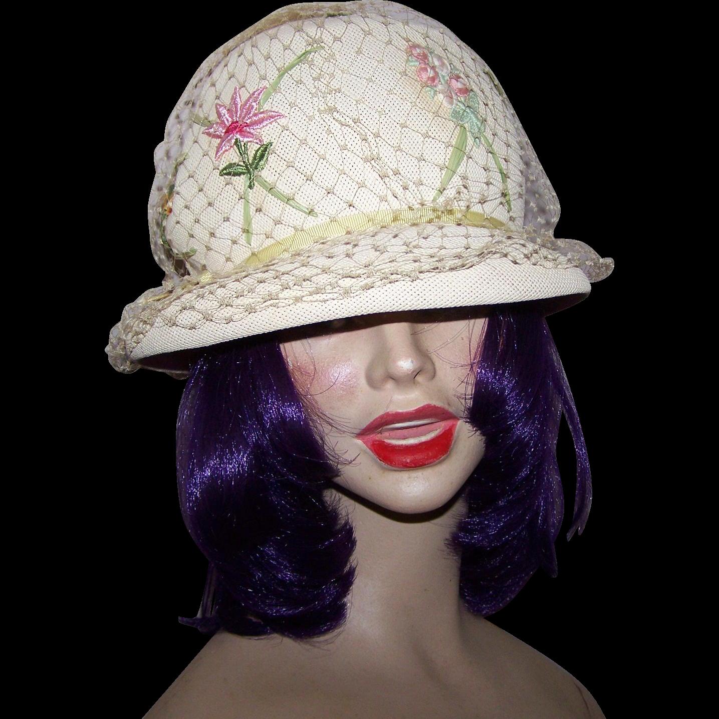 Ladies Off White Creme Wedding Hat